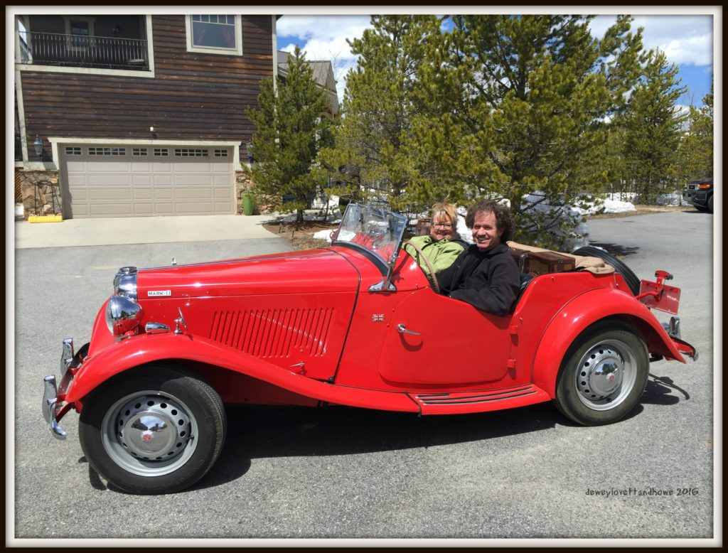 Barry & Carrie Out for a spin in HER 1953 Mark-II MG What a fine April 2016 Colorado morning!