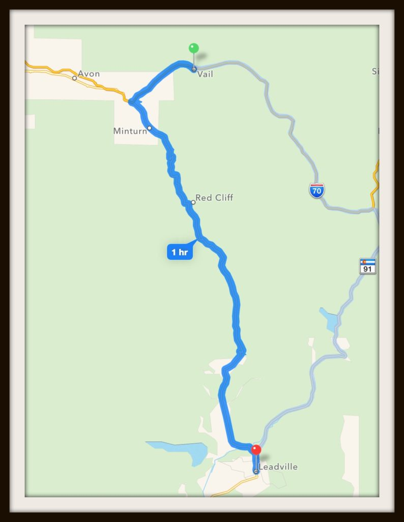 Vail to Leadville Map